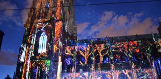 Illuminations de la Cathédrale de Strasbourg 2016, romani in strasbourg, la strasbourg