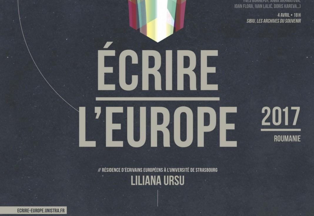 Scriitoarea Liliana Ursu La Strasbourg romani lastrasbourg ecrire l'europe