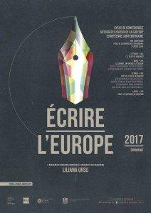 Scriitoarea Liliana Ursu La Strasbourg romani lastrasbourg ecrire l'europe affiche
