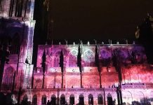 Illuminations Cathédrale de Strasbourg 2017, light show, Strasbourg Cathedral, video mapping, spectacol catedrala strasbourg