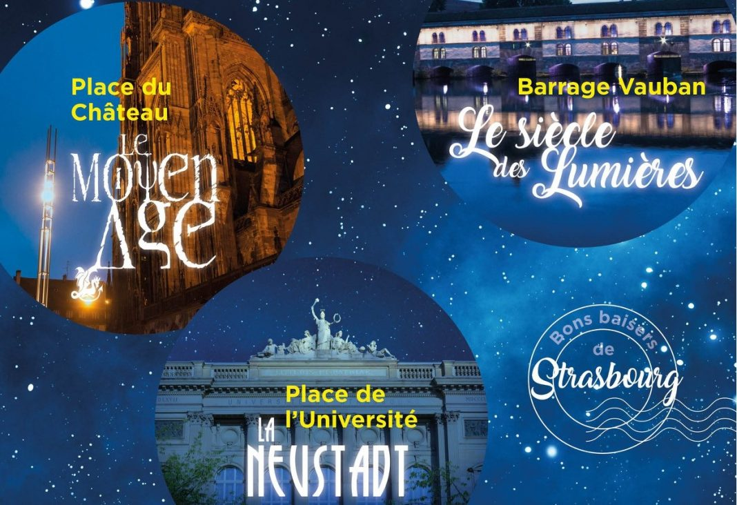illuminations cathedrale strasbourg 2018, spectacol de lumini catedrala strasbourg, proiectii lumini catedrala, light show cathedral, romani la strasbourg, program spectacol catedrala strasbourg
